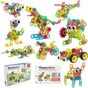 PicassoTiles® STEM Learning Toys Juego de bloques de construcción de 250 piezas para niños Kit de ingeniería de construcción PTN250