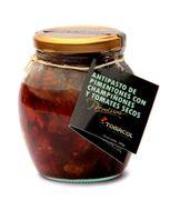 ANTIPASTO DE PIMENTONES ASADOS con champiñones y tomates secos (230 g) Marca Tomacol