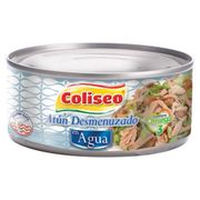 ATUN DESMENUZADO agua (170g) marca Coliseo