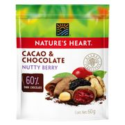 NUTTY BERRY MIX CHOCOLATE COVER 60G marca Nature's Heart