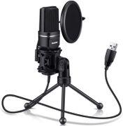 Micrófono USB, condensador de computadora TKGOU©. Para PC, PS4, PS5, portátil, escritorio, trípode soporte, filtro pop, montaje de choque. para juegos, transmisión, podcast, YouTube, voz sobre, Skype, Twitch, conectar y reproducir micrófono