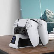 PS5 Cargador Rápido para 2 Controles Play Station 5. 750mAH. 50% Más Rápido.