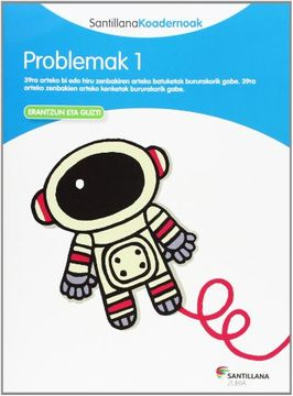 portada Problemak 1 Santillana Koadernoak - 9788498943146 (libro en Euskera)