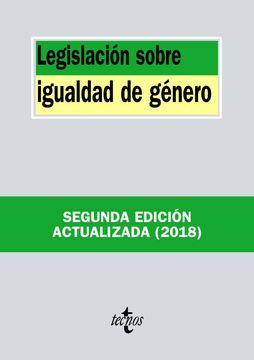 portada Legislación Sobre Igualdad de Género (Derecho - Biblioteca de Textos Legales)