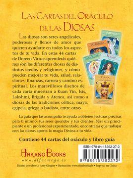 portada Las Cartas del Oráculo de las Diosas: 44 Cartas del Oráculo y Libro Guía