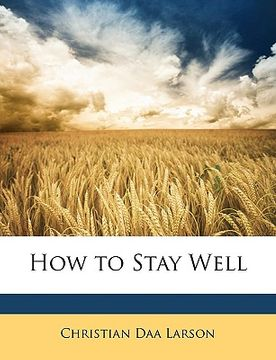 portada how to stay well