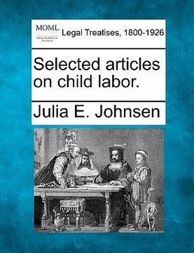 portada selected articles on child labor.