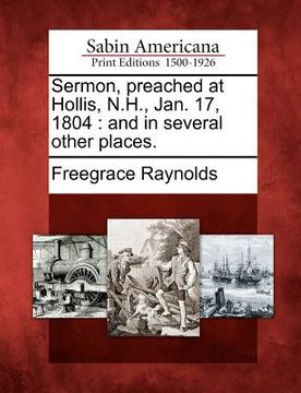 portada sermon, preached at hollis, n.h., jan. 17, 1804: and in several other places.