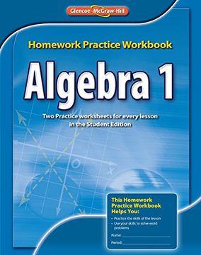 portada algebra 1 homework practice workbook, ccss