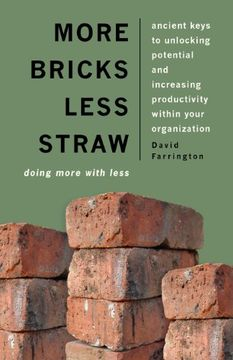 portada more bricks less straw: doing more with less - ancient keys to unlocking potential and increasing productivity within your organization