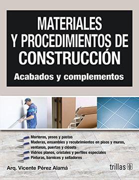 portada Materiales y Procedimientos de Construccion