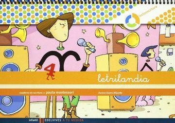 portada Letrilandia Lectoescritura Cuaderno 4 de Escritura (Pauta Montessori) (a tu Medida (Entorno Lógica Matemática)) - 9788426371423