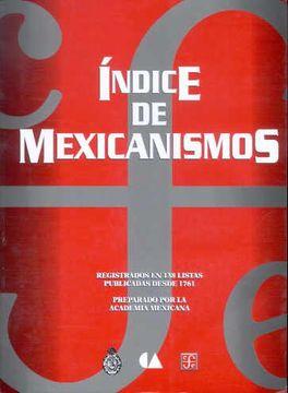 portada Índice de Mexicanismos