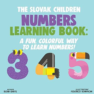 portada The Slovak Children Numbers Learning Book: A Fun, Colorful way to Learn Numbers! (libro en inglés)
