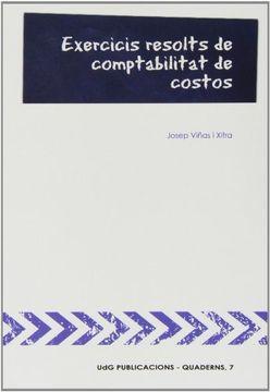 portada Exercicis resolts de comptabilitat de costos (UdG Publicacions)