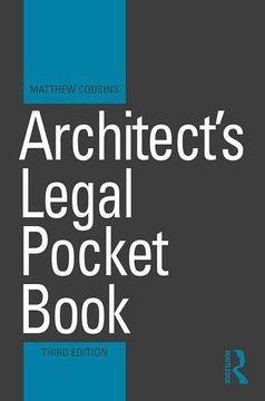 portada Architect's Legal Pocket Book (Routledge Pocket Books) (libro en Inglés)