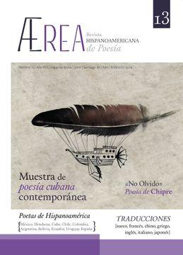 portada Ærea, Revista Hispanoamericana de Poesía Nro. 13