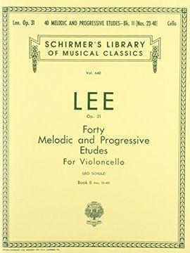 portada 40 melodic and progressive etudes, op. 31 - book 2: cello method