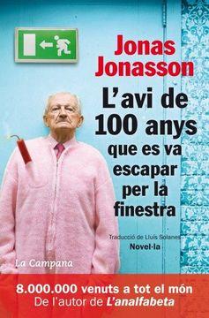 portada L'avi de 100 Anys que es va Escapar per la Finestra (libro en catalán)