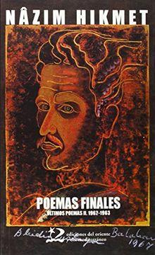 portada Poemas Finales (Poesía del Oriente y del Mediterráneo)