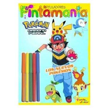 portada Los Nuevos Pokémon. Pintamania. Rotuladores
