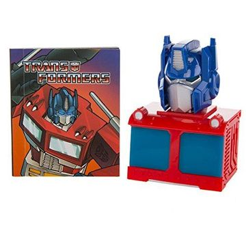 portada Transformers: Light-Up Optimus Prime Bust and Illustrated Book: With Sound! (Miniature Editions) (libro en Inglés)