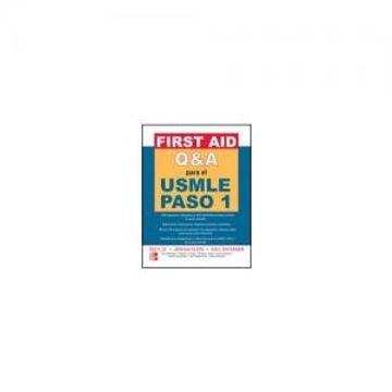 portada First aid q&a Para el Usmle Paso 1 (libro en EspañolISBN: 9701065646. ISBN-13: 97897010656481ª edición (28/02/2008). 627 páginas.)