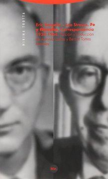 portada Eric Voegelin - leo Strauss: Fe y Filosofía, Correspondencia 1934-1964