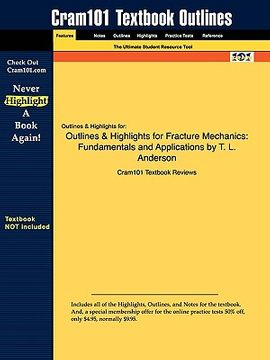 portada studyguide for fracture mechanics: fundamentals and applications by t. l. anderson, isbn 9780849316562