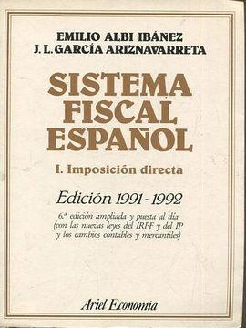 portada SISTEMA FISCAL ESPAÑOL. 1. IMPOSICION DIRECTA.