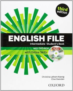 portada English File Third Edition: Intermediate: Student's Book With Itutor and Online Skills (libro en Inglés)