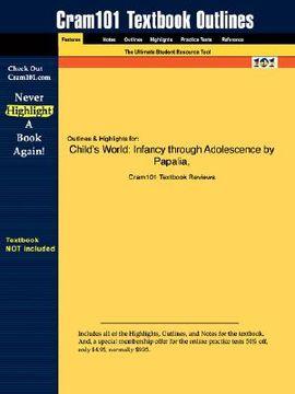 portada studyguide for child's world: infancy through adolescence by papalia & feldman, isbn 9780073531977
