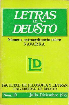 portada letras de deusto. nº 10. extraordinario sobre navarra.