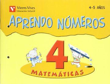 portada Aprendo números, matemáticas, Educación Infantil, 4-5 años. Cuaderno 4