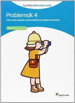 portada PROBLEMAK 4 SANTILLANA KOADERNOAK