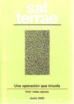 portada Sal Terrae, Revista De Teología Pastoral. Junio 2003. Tomo 91 / 6 (N. 1068)
