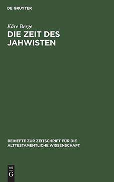 portada Die Zeit des Jahwisten (libro en Alemán)
