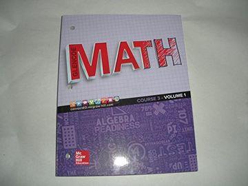 portada Glencoe Math - Course 3 - Volume 1