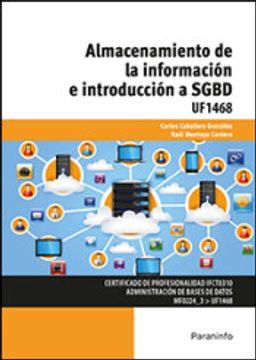 portada Almacenamiento de la información e introducción a SGBD