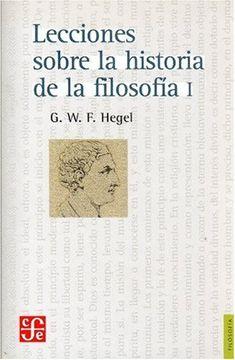 portada Lecciones Sobre la Historia de la Filosofía, i