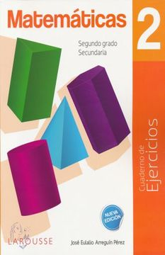 portada Matematicas 2. Cuaderno de Ejercicios. Secundaria