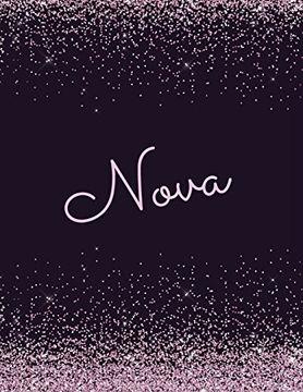 portada Nova: Nova Attractive Journal: Pink and Black Sparkly Designer Notebook. Arty Stylish Girls Stylish Journals. Girls Notebooks (libro en inglés)