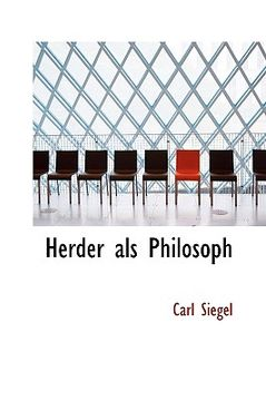 portada herder als philosoph