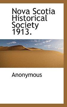 portada nova scotia historical society 1913.