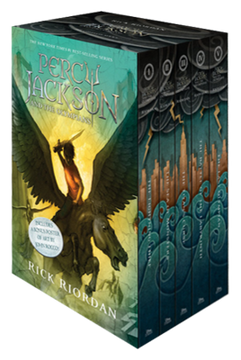 portada Percy Jackson and the Olympians 5 Book Paperback Boxed set (New Covers w (libro en Inglés)