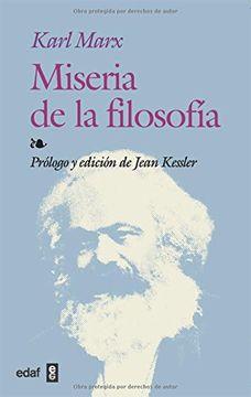 portada Miseria de la Filosofia