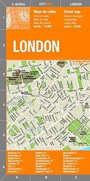 portada Londres Plano Callejero Plastificado. Escala 1: 16. 500. Bilingüe Castellano-Inglés. De Dios Editores. (City Map)