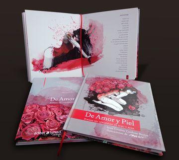 portada De Amor y Piel: Poemas sin Verguenza en Rojo y Rosa