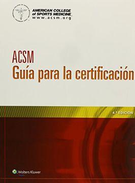 portada Acsm Guía Para la Certificación