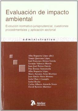 portada Evaluacion de impacto ambiental: Evolución normativo-jurisprudencial, cuestiones procedimentales y aplicación sectorial